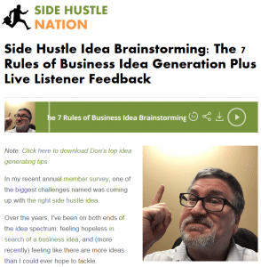 side hustle nation with don the idea guy