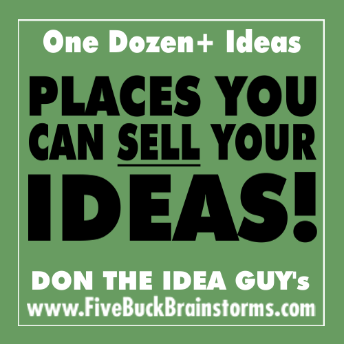 places you can sell ideas